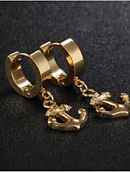 cheap -Men's Women's Earrings Vintage Style Anchor Stylish Earrings Jewelry Gold / Black / Silver For Gift Daily 1 Pair