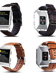 cheap -Smart Watch Band for Fitbit 1 pcs Classic Buckle Genuine Leather Replacement  Wrist Strap for Fitbit ionic