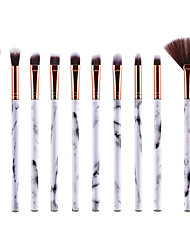 cheap -Marble Makeup Brushes 10pcs Small Makeup Brushes Set Daily Synthetic Eyeshadow Concealer Eyebrow Blending Brush Cosmetic Brush Kit