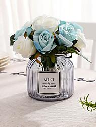 Недорогие -Иу pho_0ak512pcs розы с цветами в руках невесты свадебные фотографии съемки реквизит свадебные украшения дома цветы белые + зеленые