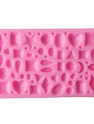 Недорогие -Иу ph10705070g2 драгоценный камень коллекция жидких силиконовые формы помадка торт плесень c150