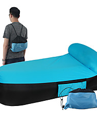 cheap -Air Sofa Inflatable Sofa Sleep lounger Outdoor Waterproof Portable Fast Inflatable Foldable Polyester 190*82*65 cm Fishing Beach Camping / Hiking / Caving Spring Summer Blue Pink Violet / Anti-tear