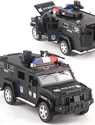 cheap -1:32 Toy Car Diecast Vehicle Model Car Police car SUV Music & Light Pull Back Vehicles Metal Alloy Mini Car Vehicles Toys for Party Favor or Kids Birthday Gift 1 pcs / Kid's
