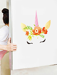 cheap -Cute Cartoon Wall Stickers - Animal Wall Stickers Animals / Landscape Study Room / Office / Dining Room / Kitchen-D