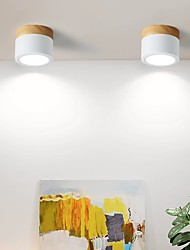 cheap -1-Light 10.8 cm Mini Style Flush Mount Lights Metal Acrylic Geometrical Painted Finishes Modern Generic