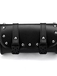 cheap -Motorcycle Front Fork Tool Saddlebags Pouch Luggage Black Leather For Harley-