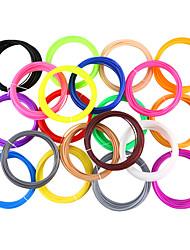 Недорогие -myriwell pla 1.75 мм нить 20 цветов 5 м случайный цвет выбран 3d напечатаны пла 1.75 мм 3d ручка пластиковая 3d принтер пла нити 3d ручки пла экологическая безопасность