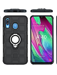 cheap -Case For Samsung Galaxy Samsung Galaxy A40(2019) / Galaxy A20e Waterproof / Shockproof / Ring Holder Back Cover Solid Colored Soft Plastic