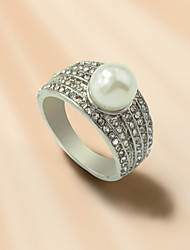 cheap -Ring Geometrical Silver Pearl Rhinestone Alloy Stylish Korean Fashion 1pc / Women's