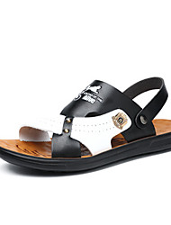 cheap -Men's Comfort Shoes Synthetics Spring & Summer Sandals Black and White / White / Blue / White / Yellow