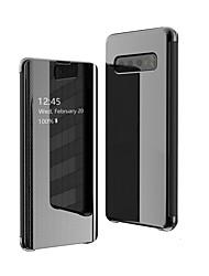 Недорогие -Кейс для Назначение Huawei Huawei P30 / Huawei P30 Pro / Huawei P30 Lite Флип / Авто Режим сна / Пробуждение Чехол Однотонный Твердый ТПУ
