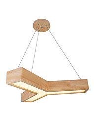 cheap -1-Light Pendant Light Wooden Led Chandeliers Hanging Light Ceiling Mounted Minimalist Overhead Lights For Bedroom