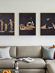 cheap -Framed Art Print Framed Set - Cartoon Spiritual PS Illustration Wall Art