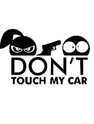Недорогие -автомобиль стайлинг забавный стикер автомобиля для предупреждения не трогайте мою машину
