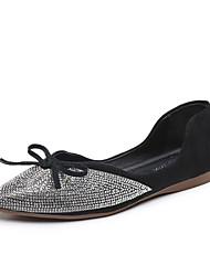 cheap -Women's Flats Flat Heel Pointed Toe Bowknot PU Sweet Summer Black / Almond / Light Blue