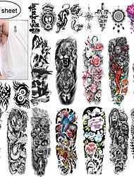 Недорогие -24 pcs Временные татуировки Экологичные / Одноразового использования Корпус / плечо / назад Картон
