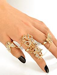 cheap -Women's Ring Bracelet / Slave bracelet Hollow Out Flower Butterfly Stylish Ethnic Imitation Diamond Bracelet Jewelry Gold For Club Festival
