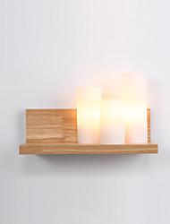 Недорогие -настенный светильник современный нордический стиль лампы настенные светильники дерево ночник