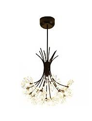 cheap -Pendant Lamp Crystal Dandelion Chandelier Pendant Lighting Pendant Lamps for Bedroom 13-Light Black