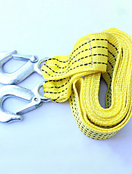 cheap -Car Tow Rope Straps with Hooks 3 Tons 3 Meters  High Strength Emergency Towing Rope Cable Cord Heavy Duty Recovery Securing Accessories Yellow