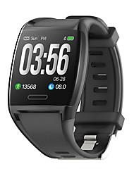 Недорогие -Жен. электронные часы На каждый день Мода Черный Белый Красный силиконовый Цифровой Черный Белый Красный Защита от влаги Bluetooth Smart 30 m 1 комплект Цифровой