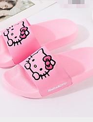 cheap -Girls' Comfort PVC Slippers & Flip-Flops Big Kids(7years +) Animal Print Black / Pink Summer