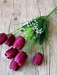 Недорогие -Dongguan fq1ho_y5hc2 завод прямых продаж 7 голов тюльпан искусственный цветок оптом белый поддельный цветок пол цветочная композиция орнамент tonestyle-u розовый