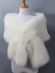 cheap -Sleeveless Shawls Faux Fur / Acrylic Wedding / Party / Evening Women's Wrap With Solid