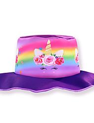 cheap -Kids Girls' Sweet Cartoon Spandex Hats & Caps Purple / Fuchsia One-Size