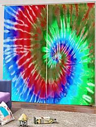 abordables -Ventes chaudes dans le commerce extérieur 3d impression spirale couleur rideau polyvalent épaississement occultation occultation de la chaleur isolation thermique antipoussière 100% polyester rideau