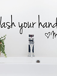 cheap -Removable Bathroom Wash Your Hands Love Mom Wall Sticker Waterproof Art Decal for Home Bathroom Toilet Wall Decor