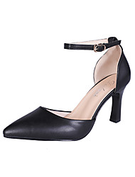 cheap -Women's Heels Stiletto Heel Closed Toe PU(Polyurethane) Summer White / Black
