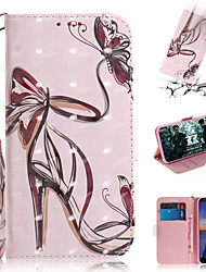cheap -Case For Nokia Nokia Wallet / Card Holder / with Stand Full Body Cases Sexy Lady PU Leather