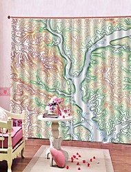 cheap -3D Digital Printing Multifunctional Curtains Modern Simple Soundproof Heat Insultation Living Room Bedroom Rod Set Curtain Ready Made