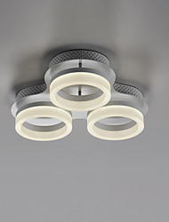 cheap -3-Light LED Ceiling Light Circle Flush Mount Lights Ambient Light Painted Finishes Metal Warm White / Cold White
