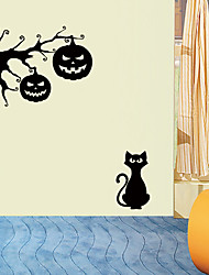cheap -Halloween Pumpkin Lights Wall Stickers - Animal Wall Stickers Animals / Landscape Study Room / Office / Dining Room / Kitchen