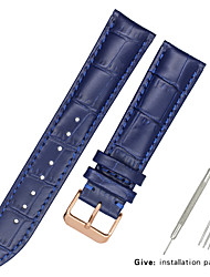 cheap -Genuine Leather / Leather / Calf Hair Watch Band Strap for Black / White / Blue Other / 17cm / 6.69 Inches / 19cm / 7.48 Inches 1.2cm / 0.47 Inches / 1.3cm / 0.5 Inches / 1.4cm / 0.55 Inches