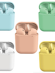 cheap -Lollipop Macaron i12 TWS True Wireless Earbuds Bluetooth 5.0 Headphones Pop Up for iOS Smartphones Hands Free Touch Control Auto Pairing Earphones