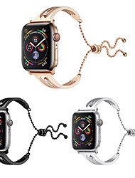 cheap -Stainless Steel Bling Bracelet Bands Compatible iWatch 40mm 44mm 38mm 42mm Apple Watch Series 4 3 2 1 Luxury Diamond Crystal Classy Bangle Replacement Loop Wirst Strap
