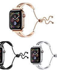 Недорогие -браслеты из нержавеющей стали, совместимые с браслетом iwatch 40 мм 44 мм 38 мм 42 мм Apple Watch серии 4 3 2 1 роскошный алмазный кристалл стильный браслет замена петли ремешок