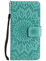 cheap -Case For LG LG K10 / LG K8 / LG K7 Shockproof Full Body Cases Flower Hard PU Leather / LG G6
