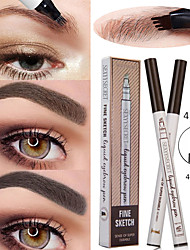 cheap -4 Liquid Eyebrow Pencil Waterproof And Durable Natural Long-Lasting Eye Makeup