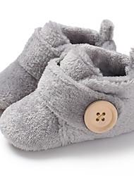 cheap -Boys' / Girls' First Walkers Faux Fur Boots Infants(0-9m) / Toddler(9m-4ys) Dark Red / Light Blue / Leopard Winter