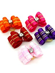 cheap -Dogs Ornaments Hair Accessories For Dog / Cat Bowknot Decoration Stripes Mosaic Metalic Polyester Rubber Rainbow