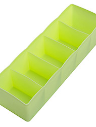 cheap -5 Cells Plastic Storage Box Tie Bra Socks Underwear Drawer Cosmetic Stationery Divider Tidy Organizer