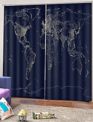 cheap -European Luxury Modern Simple Design Curtain Waterproof Moistureproof Soundproof Window Curtain with Hook / Rings