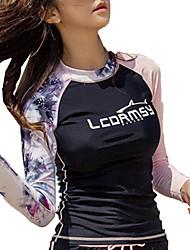 abordables -LCDRMSY Femme Anti Irritation Maillots de Bain Protection solaire UV Séchage rapide Manches Longues Natation Plongée Surf Peinture Eté / Micro-élastique