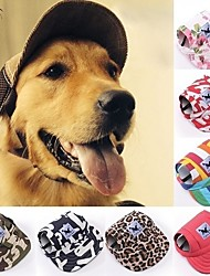 cheap -Cat Dog Hoodie Sport Hat Visor Cap Dog Clothes Black Camouflage Color Stripe Costume Husky Labrador Alaskan Malamute Terylene Oxford Fabric Floral Botanical S M