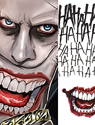 cheap -5pcs/lot Halloween Cosplay The Joker Temporary Tattoo Stickers Body Art Tattoos for Face Arm