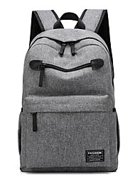 cheap -Large Capacity Oxford Zipper School Bag Solid Color Daily Blue / Black / Light Grey / Fall & Winter